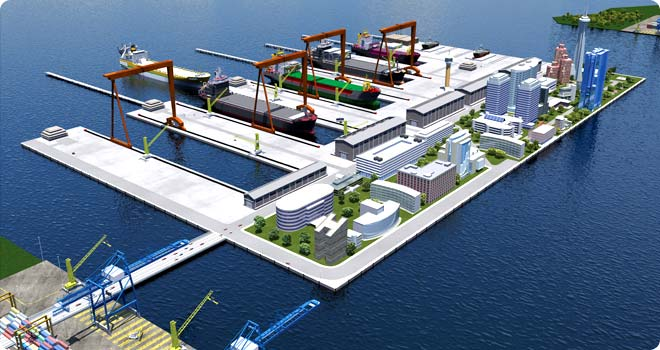 New Amsterdam Dry Docking Industrial Port Complex